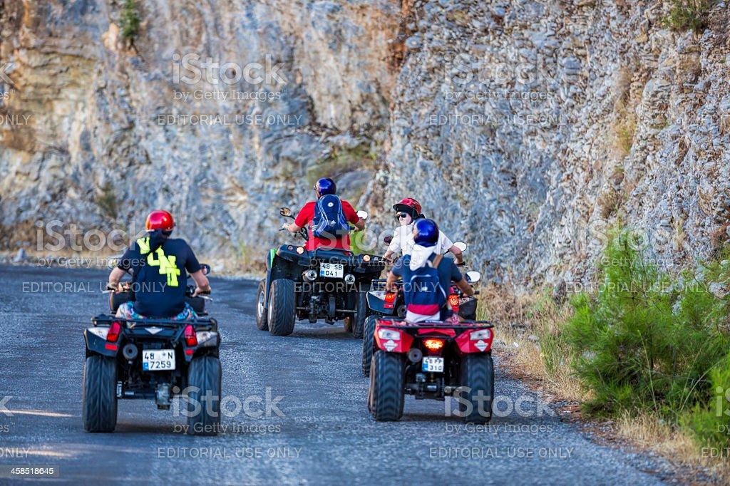 Four-wheelers stock photo