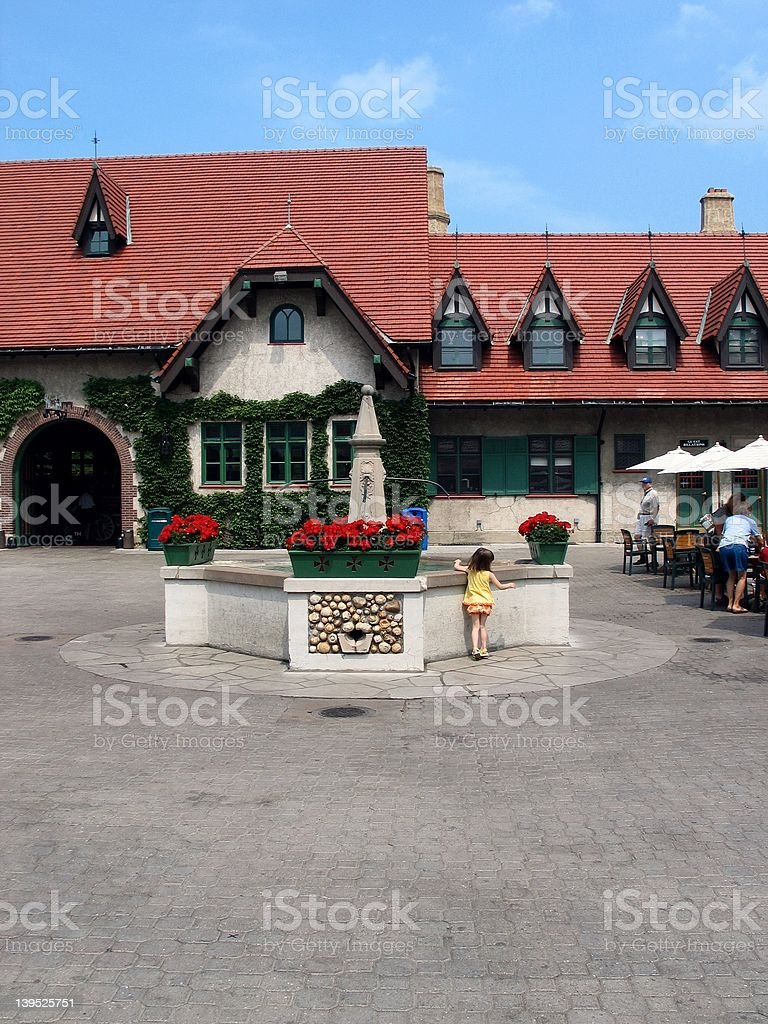 foutain in courtyard royalty-free stock photo
