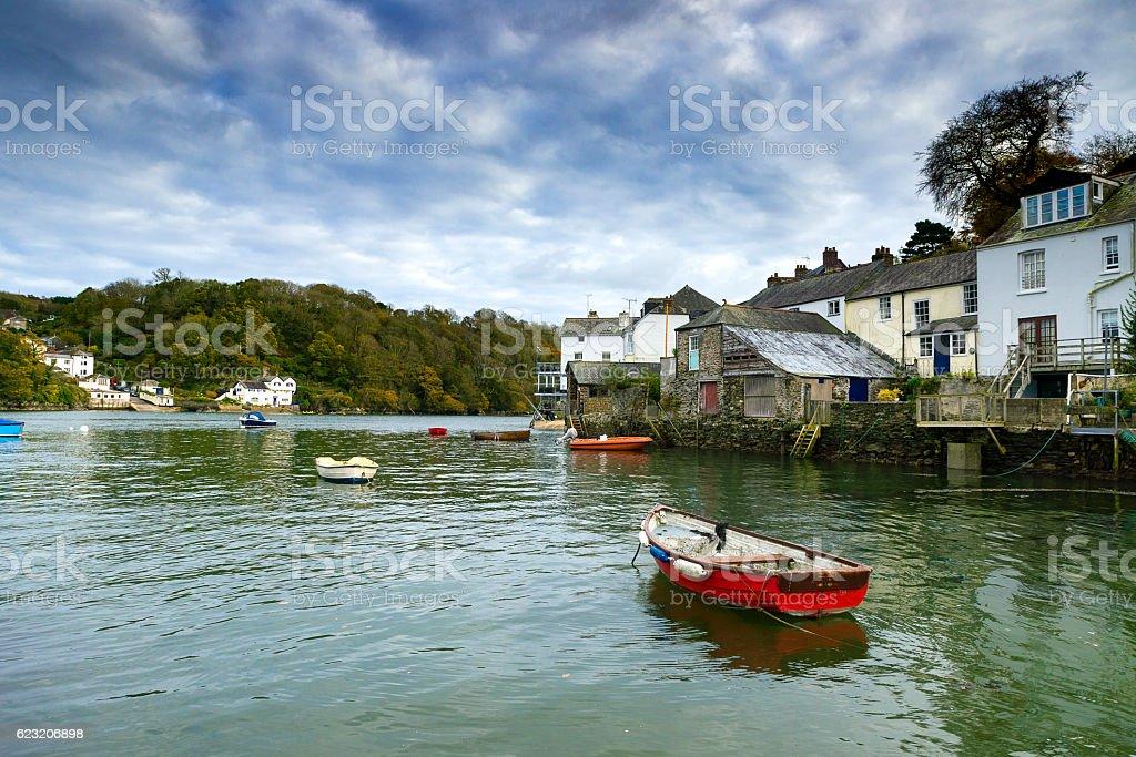 Fowey and Bodinnck, Cornwall, UK stock photo