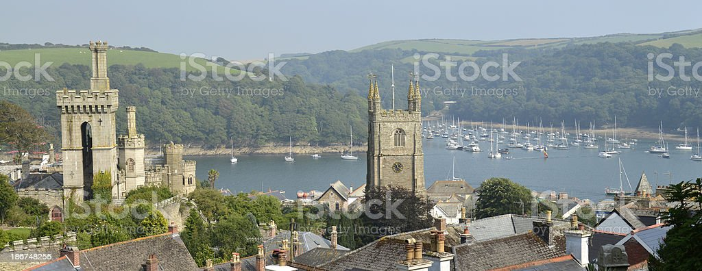Fowey. Cornwall stock photo