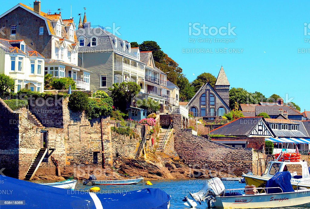 Fowey, Cornwall. stock photo