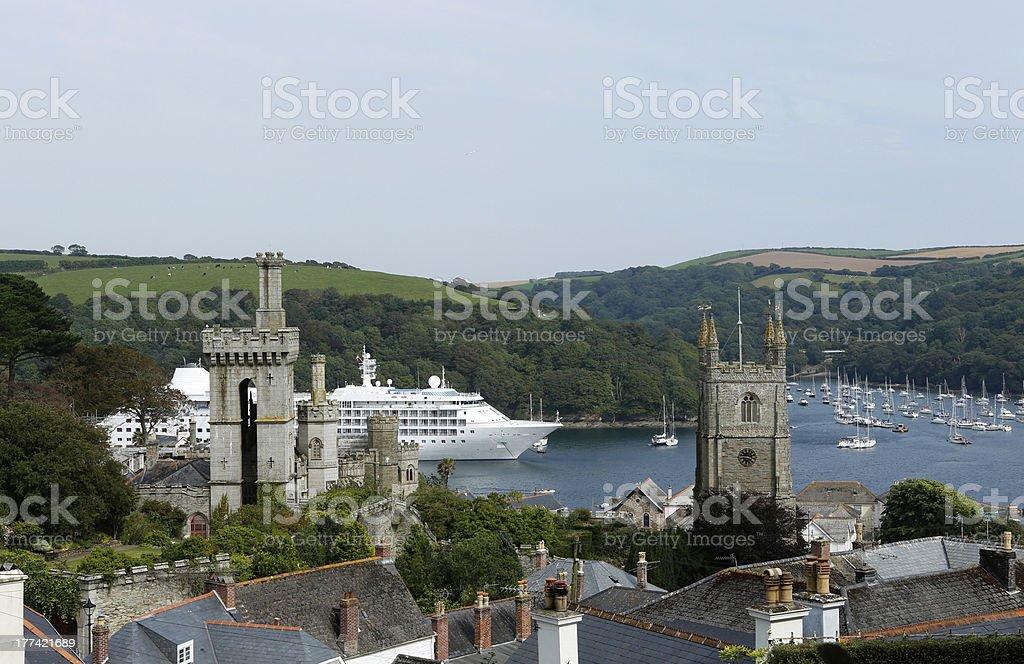 Fowey estuary, Cornwall, UK royalty-free stock photo