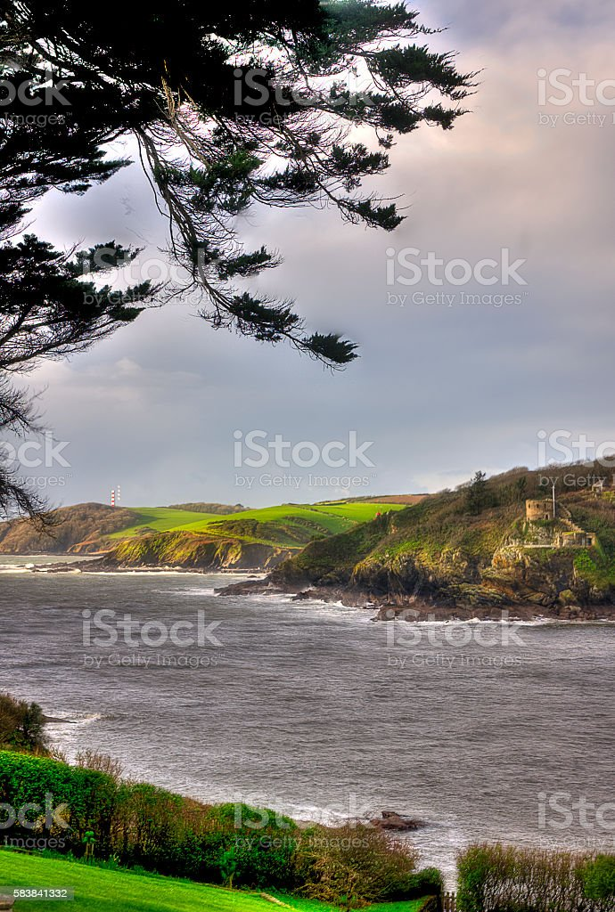 Fowey Harbour Entrance stock photo