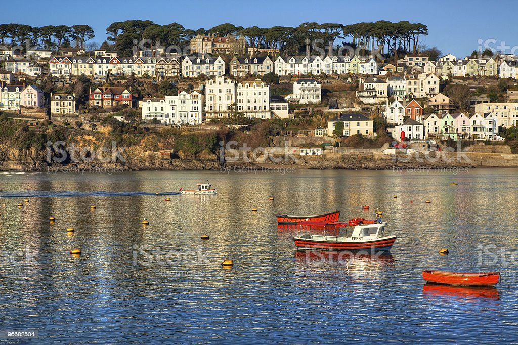 Fowey on the Cornwall coast of England stock photo