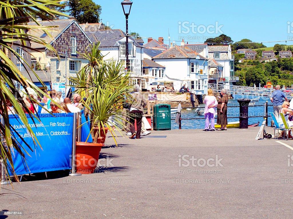 Fowey Quay, Cornwall. stock photo