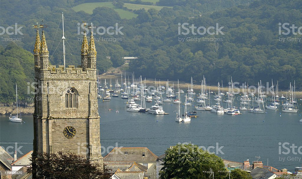 Fowey town. Cornwall stock photo