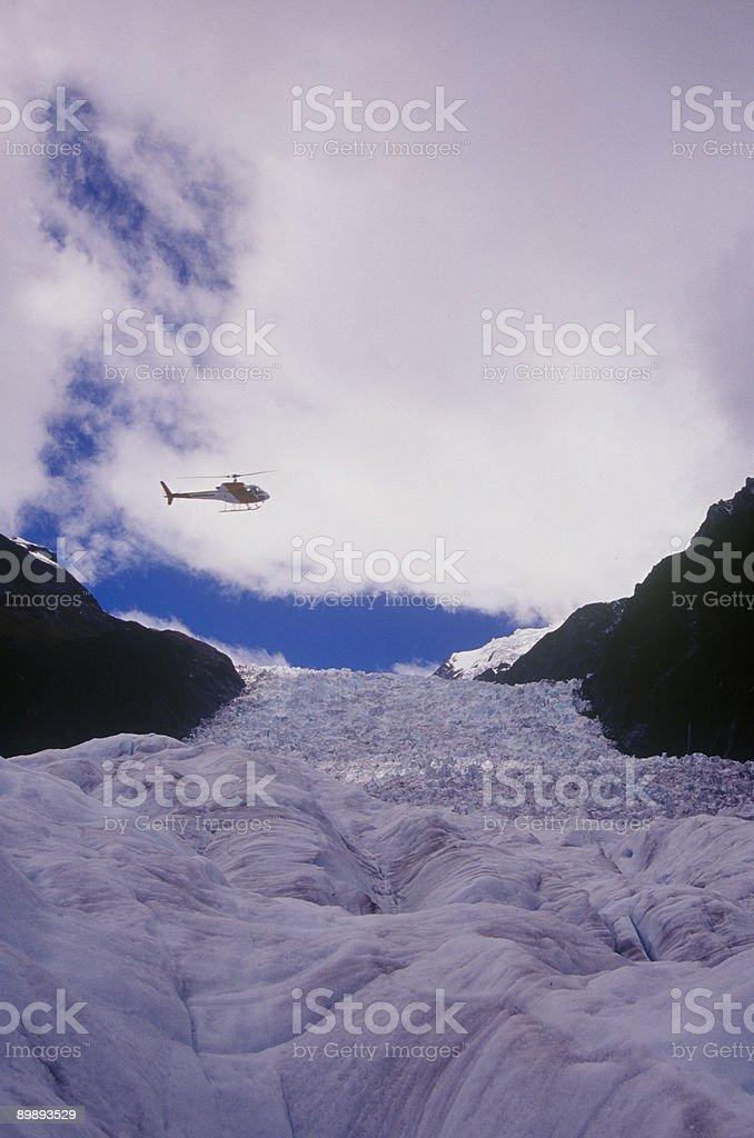 Fox Glacier Heli-hiking stock photo