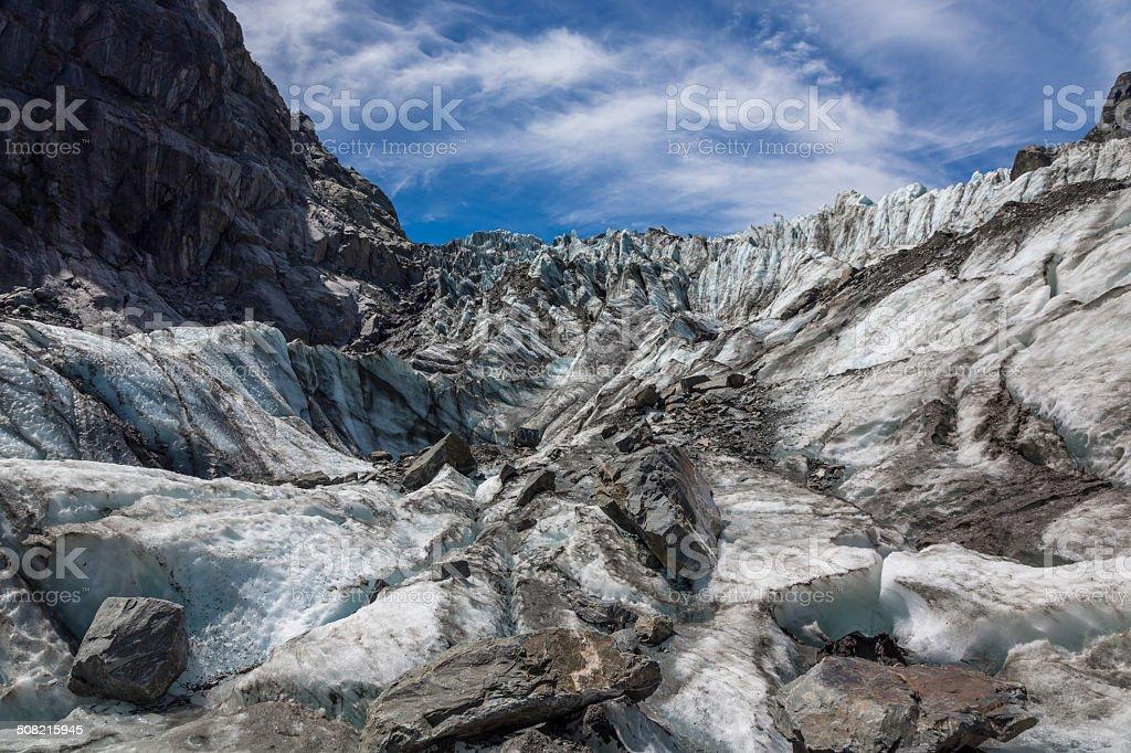 Fox Glacier Hiking Up the Glacier, New Zealand stock photo