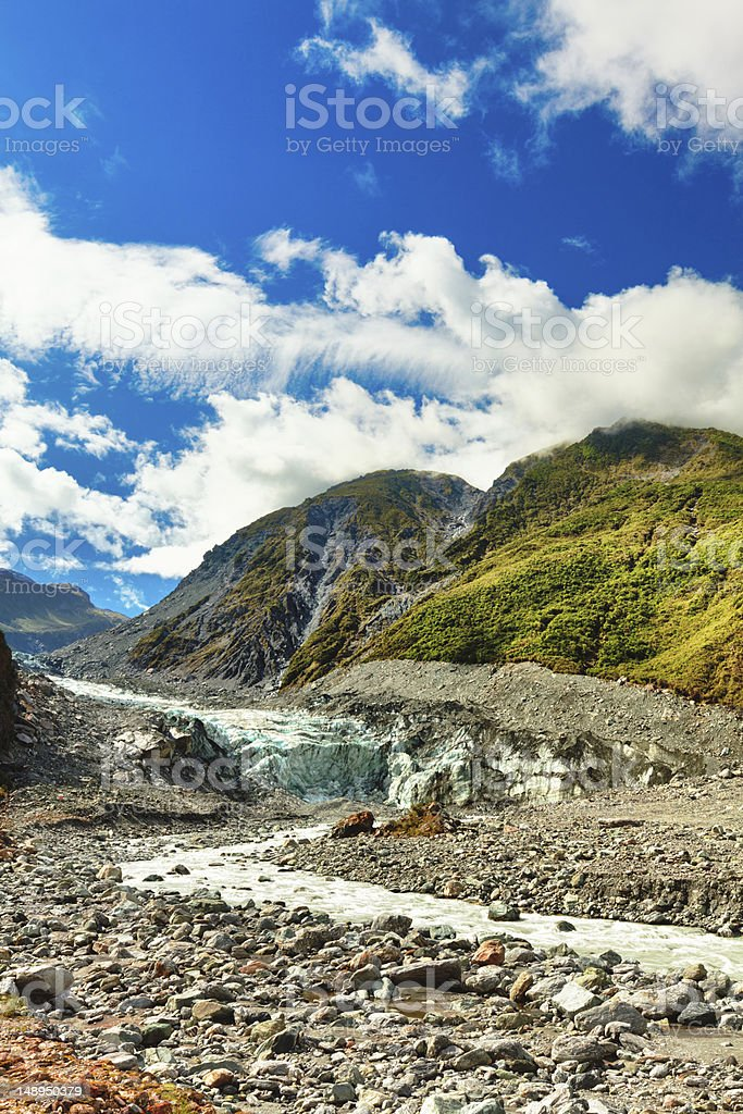 Fox glacier royalty-free stock photo