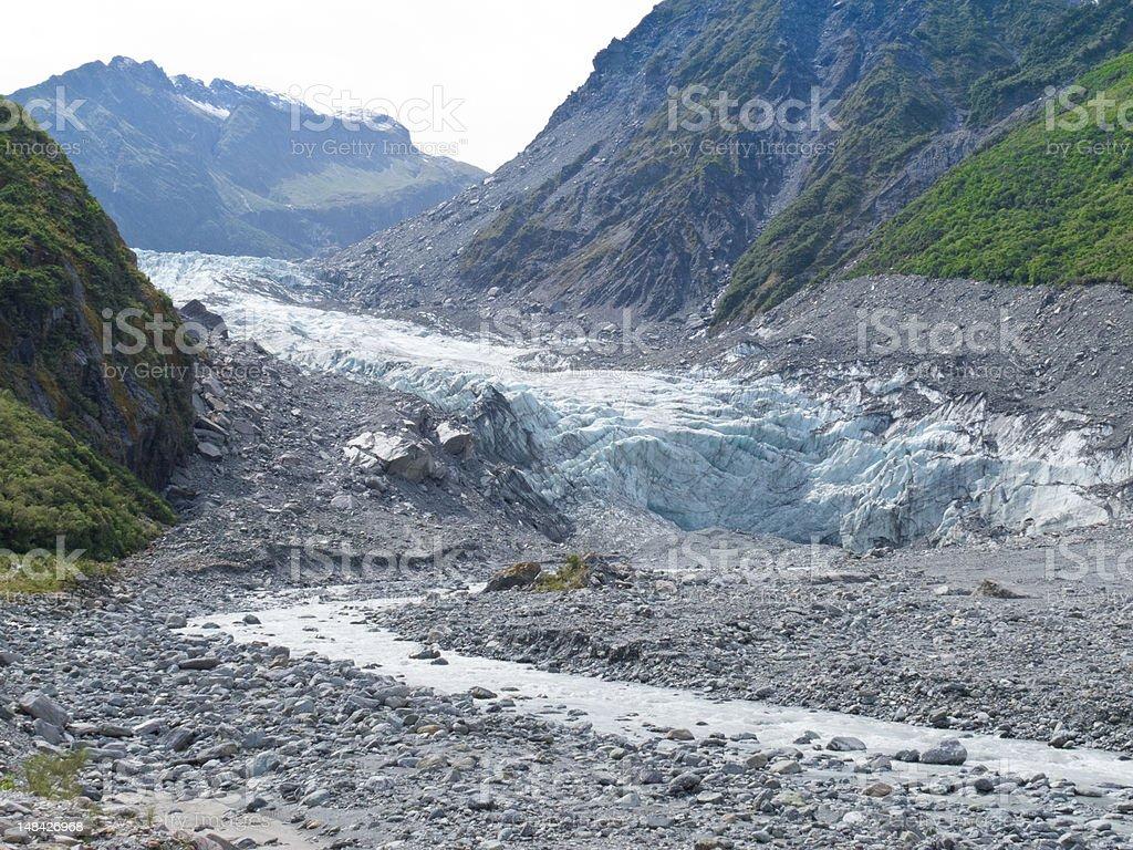 Fox Glacier, South Island, New Zealand royalty-free stock photo