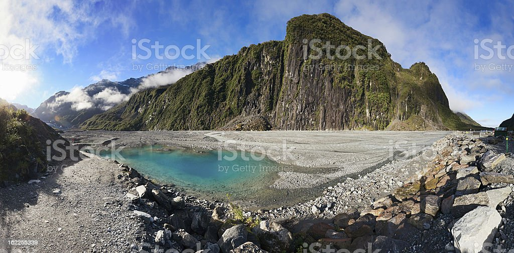 Fox Glacier valley royalty-free stock photo
