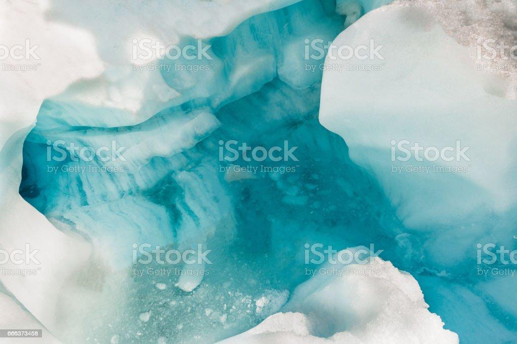 Fox glaciers cave, New Zealand stock photo