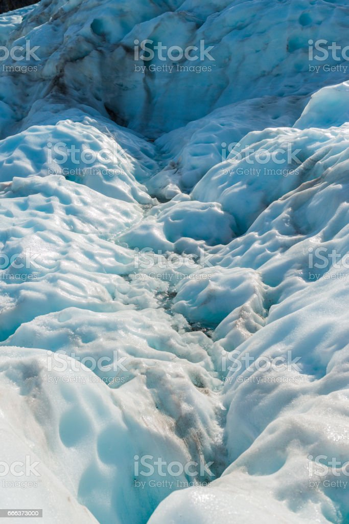 Fox glaciers closep-up, Southern island, New Zealand stock photo