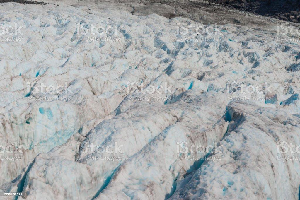 Fox glaciers Southern island, New Zealand stock photo