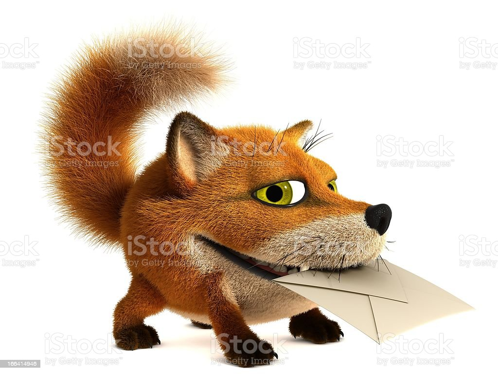 Fox postman stock photo