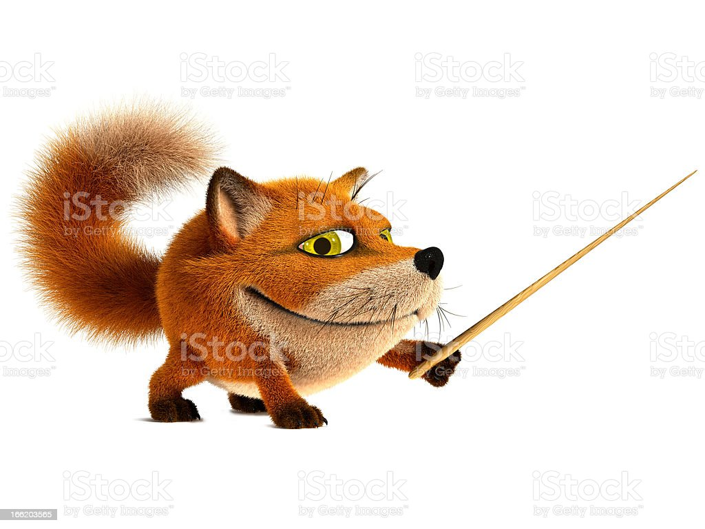 Fox teacher stock photo