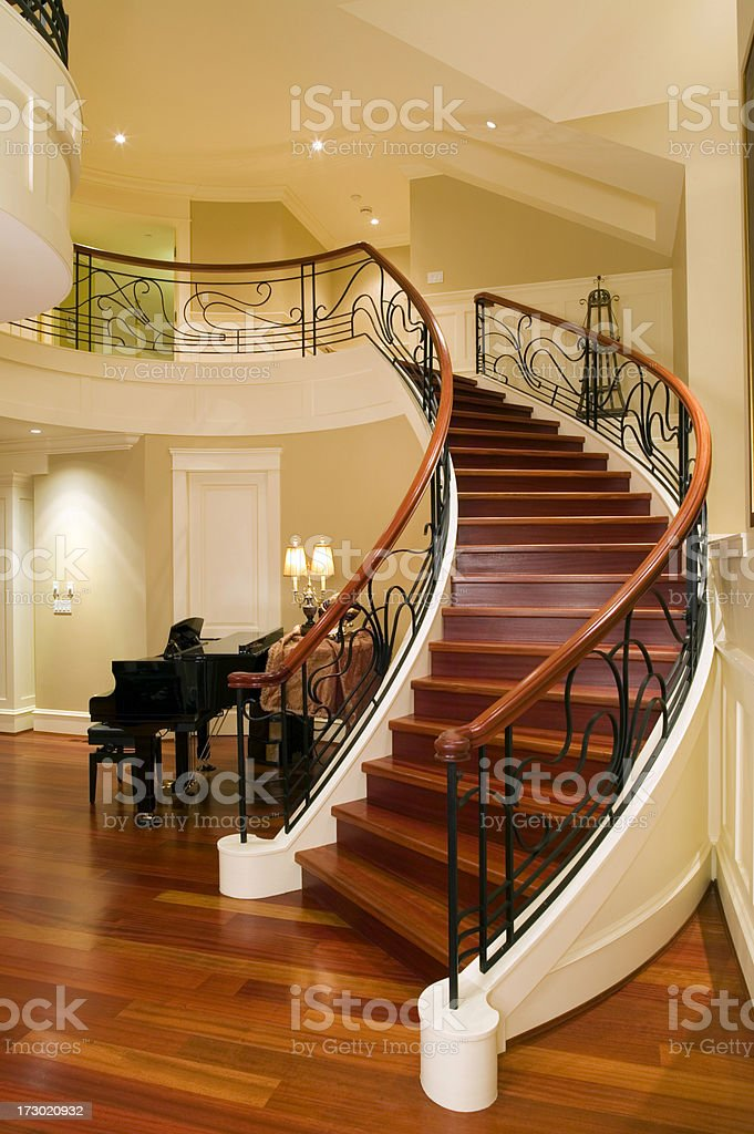 foyer entrance modern contemporary home royalty-free stock photo
