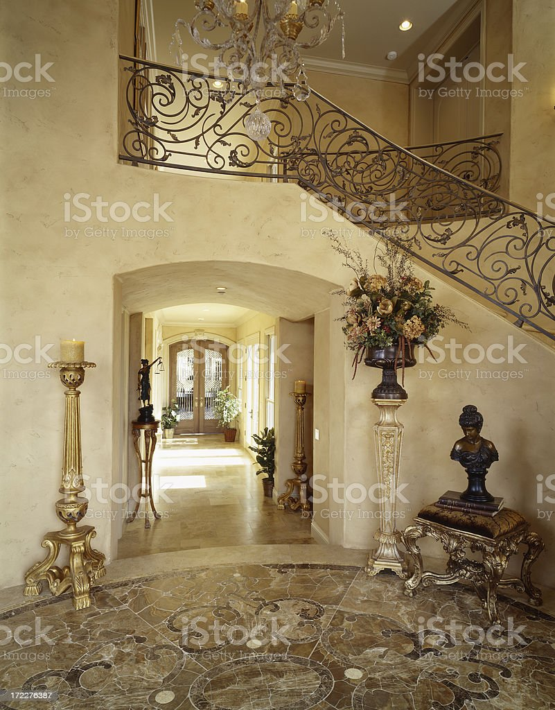 Foyer in French Mansion royalty-free stock photo