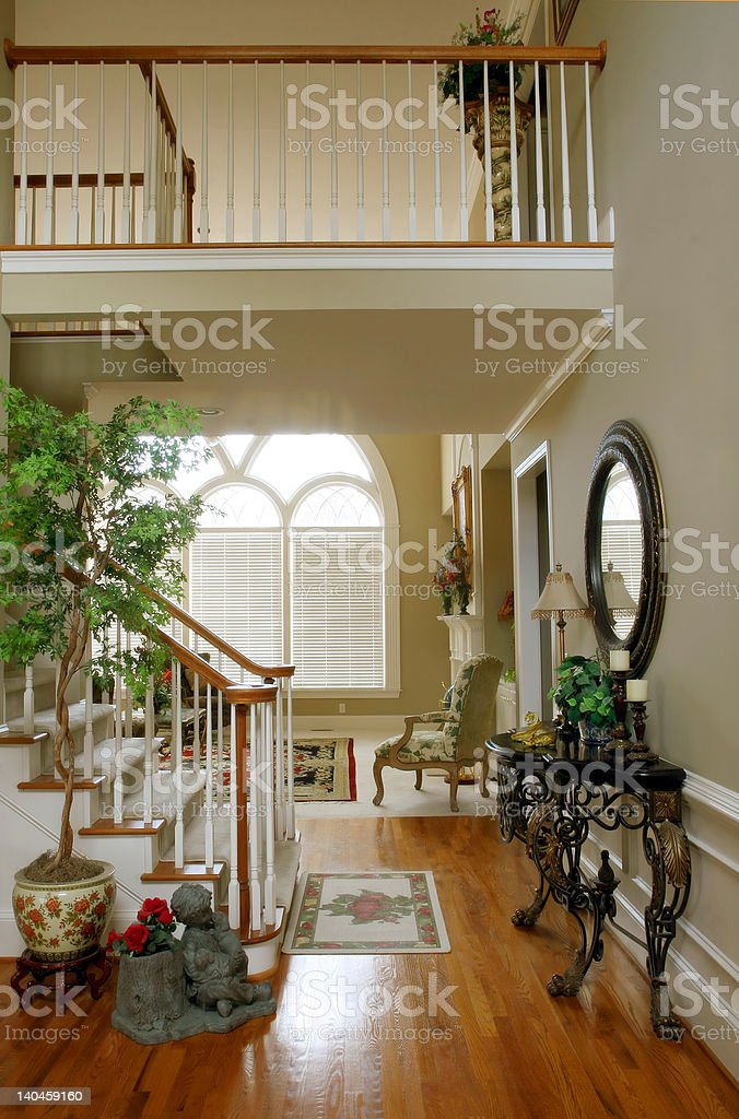 Foyer of Upscale Home royalty-free stock photo