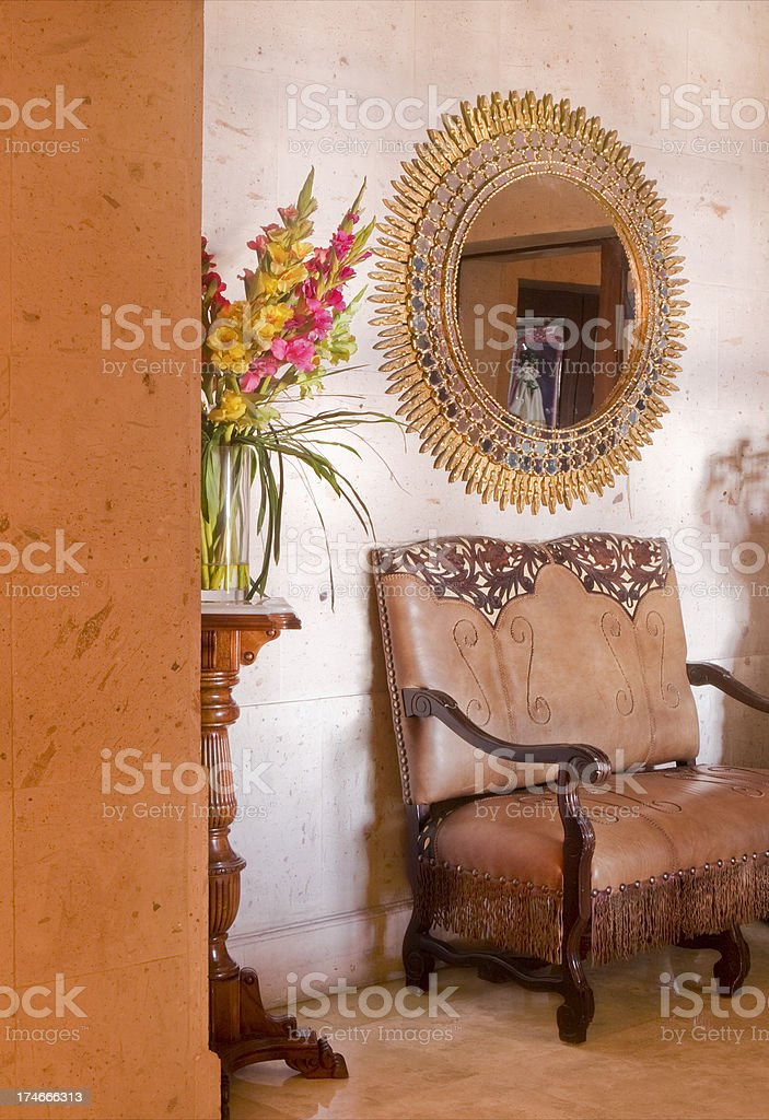 Foyer with Antiques royalty-free stock photo