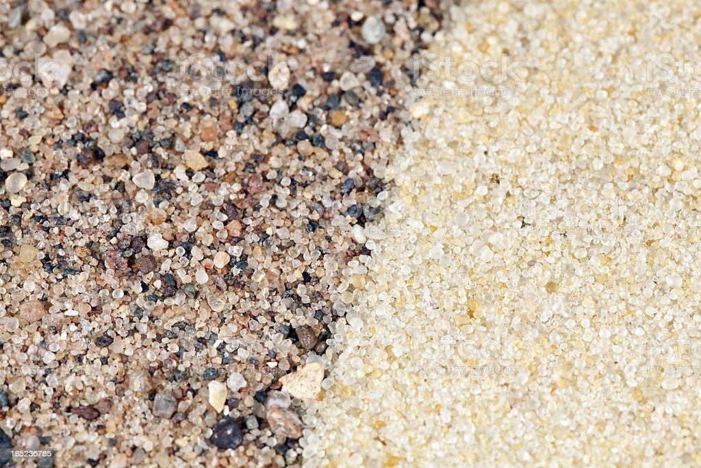 Frac Sand Macro Comparison stock photo