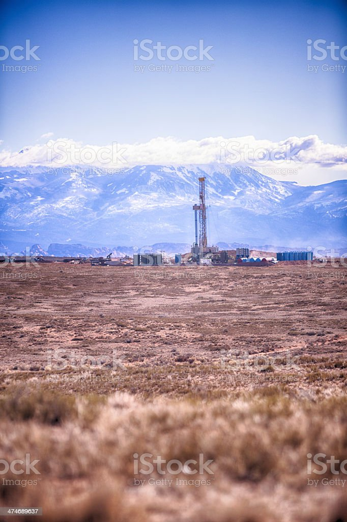 Fracking Drill Rig royalty-free stock photo