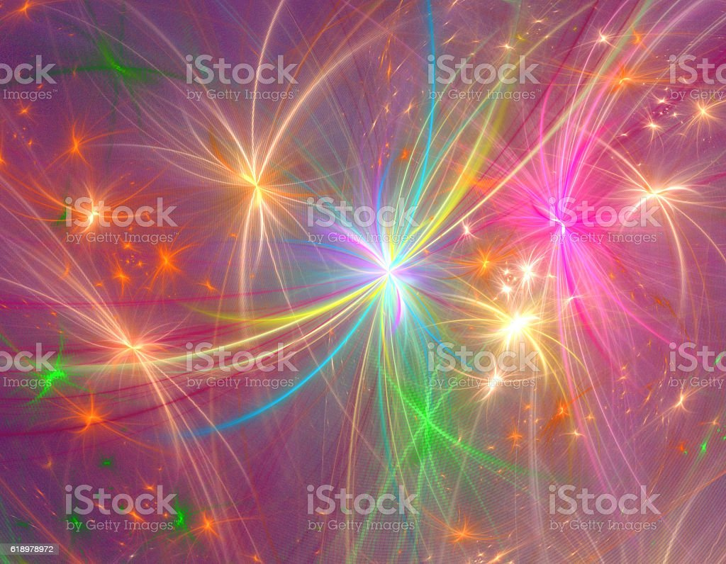 Fractal abstract firework copy space stock photo