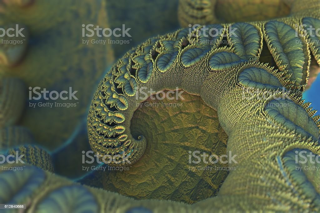 Fractal Art 3D stock photo