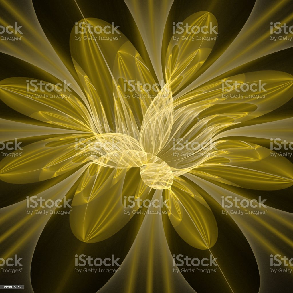 Fractal art background for creative design. Abstract fractal. Decoration for wallpaper desktop, poster, cover booklet, card. Psychedelic. Print for clothes, t-shirt. stock photo