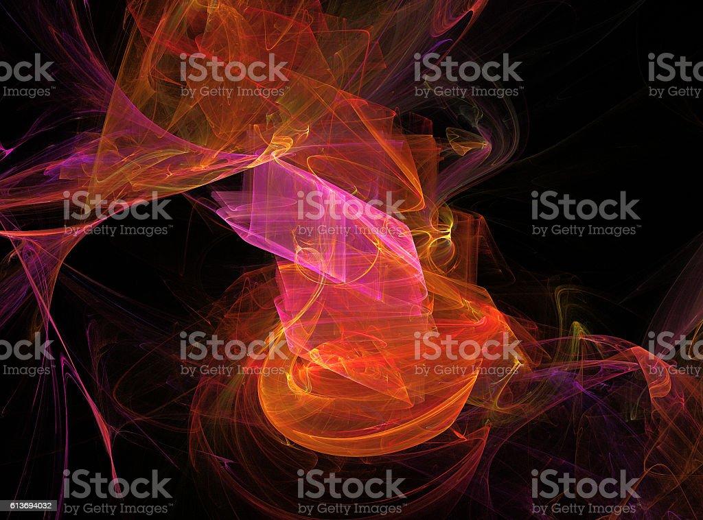 Fractal artwork for creative graphic design stock photo