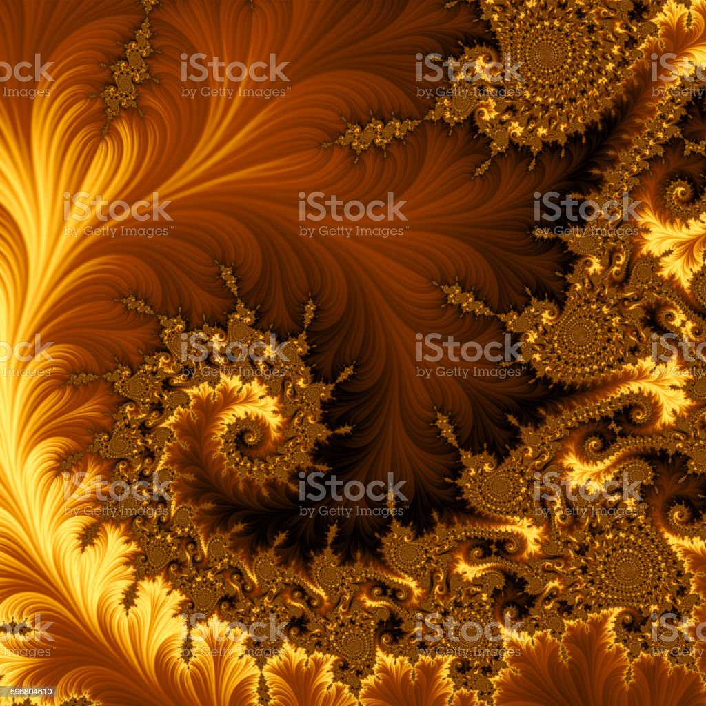 Fractal background vector art illustration