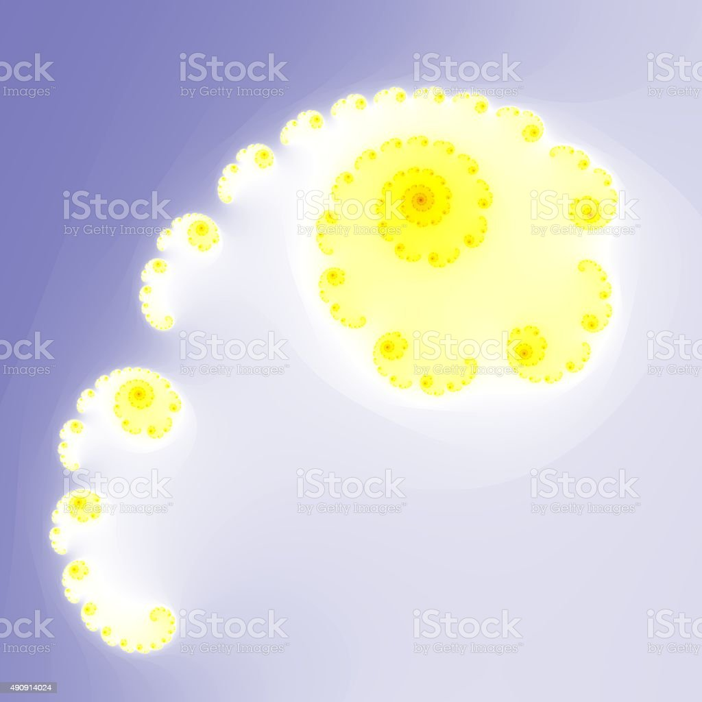 Fractal floral pattern stock photo