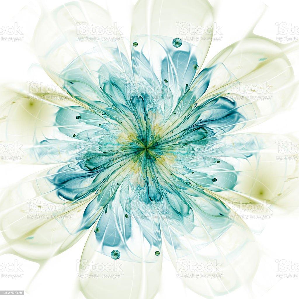 fractal flower stock photo