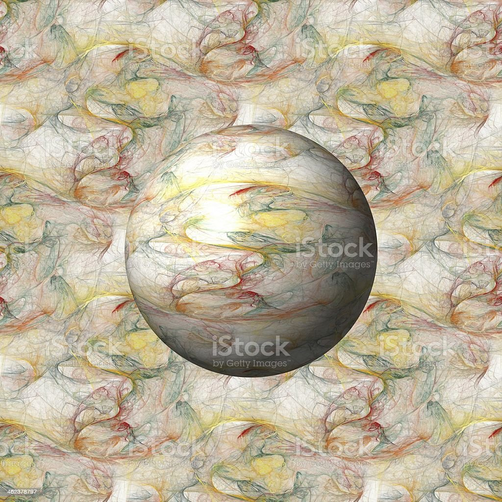 Fractal Gloabe royalty-free stock photo
