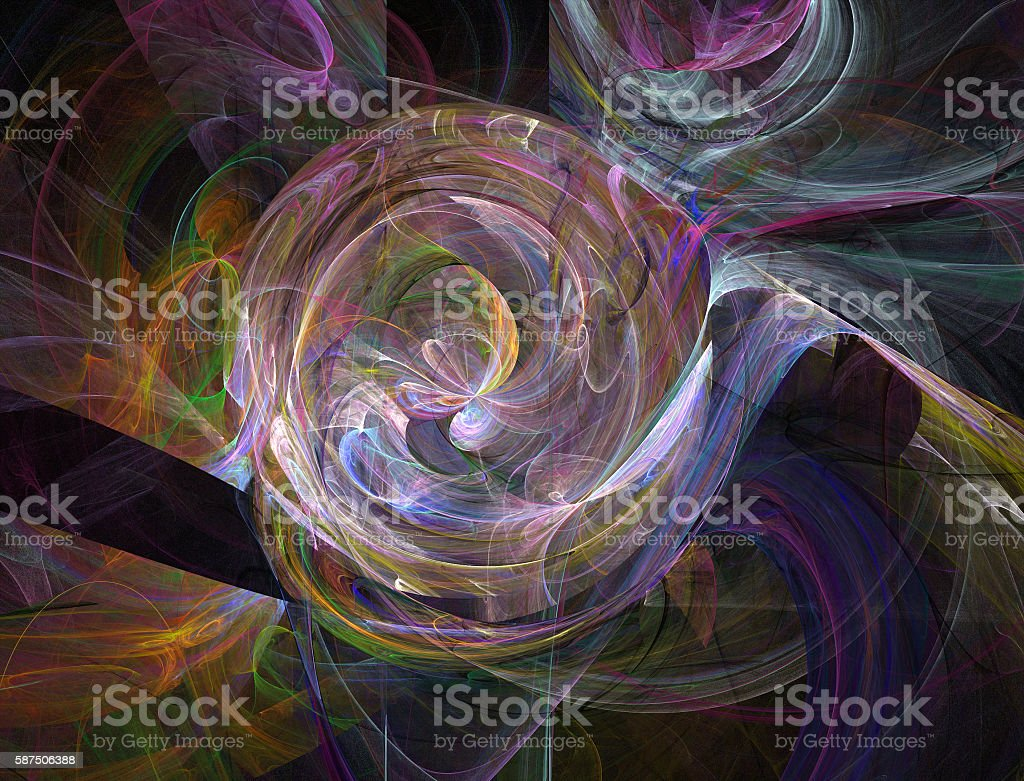 fractal neon mystica colorl light whirlwind stock photo