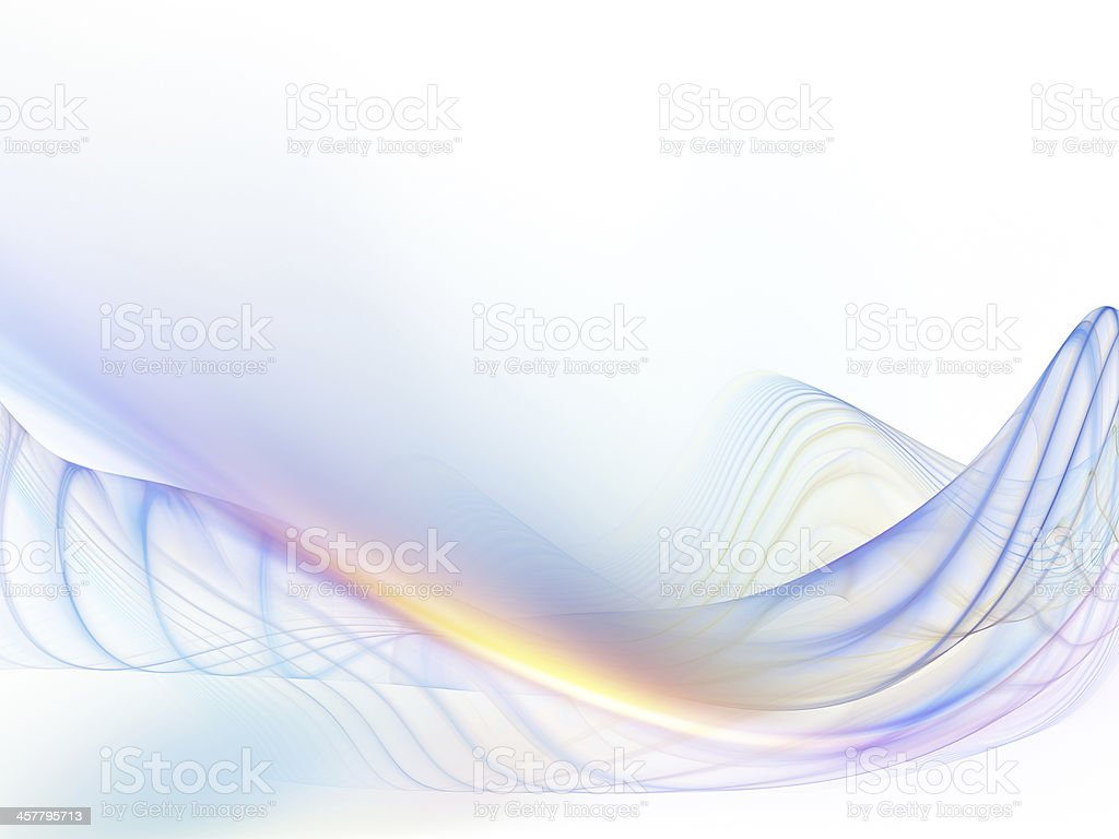 Fractal Waves Design royalty-free stock photo