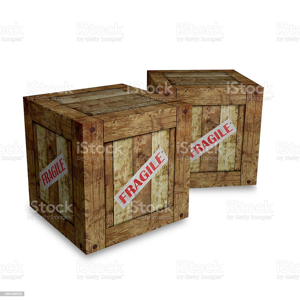 fragile box stock photo