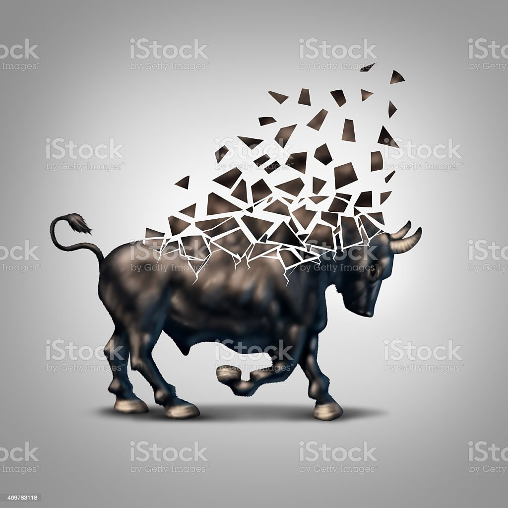 Fragile Bull Market stock photo