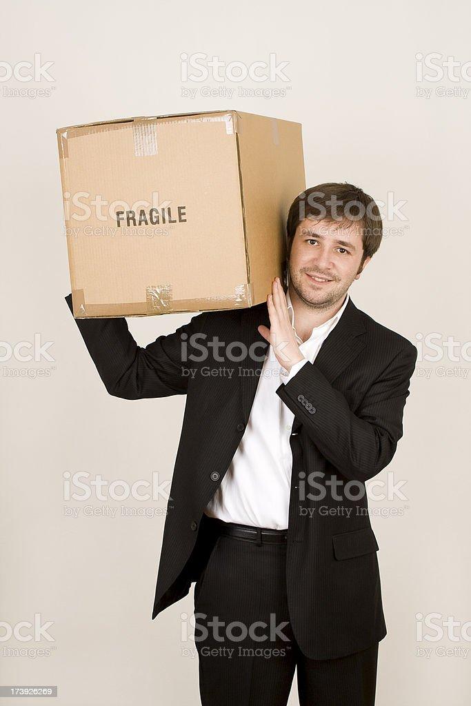 Fragile businessman royalty-free stock photo