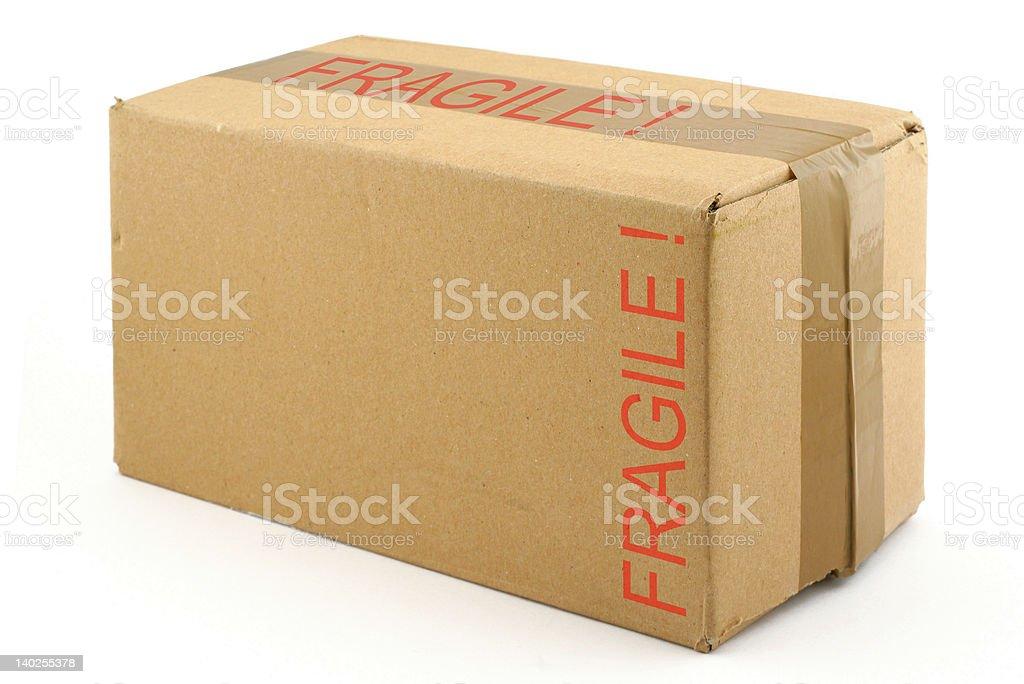 fragile cardboard box royalty-free stock photo