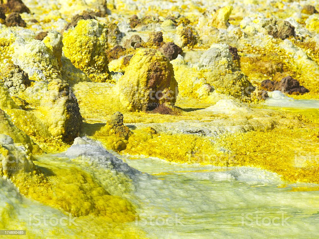 Fragile Dallol stock photo