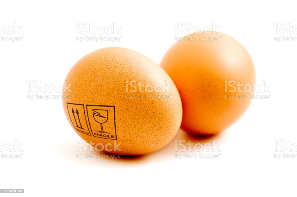 Fragile eggs royalty-free stock photo