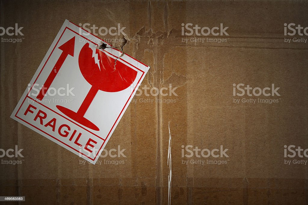 Fragile freight stock photo