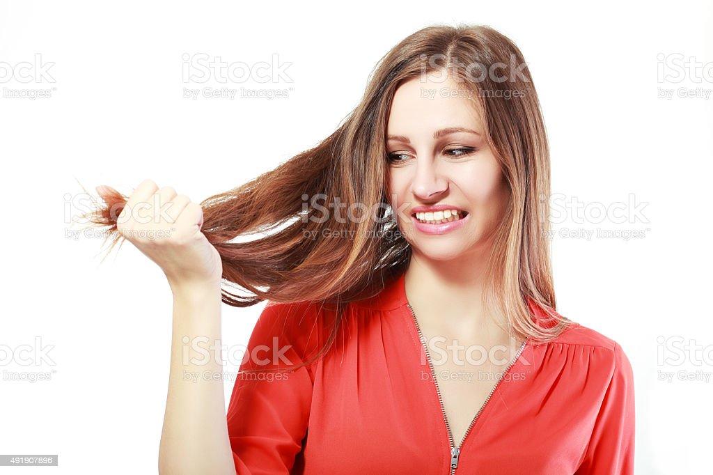 fragile hair stock photo