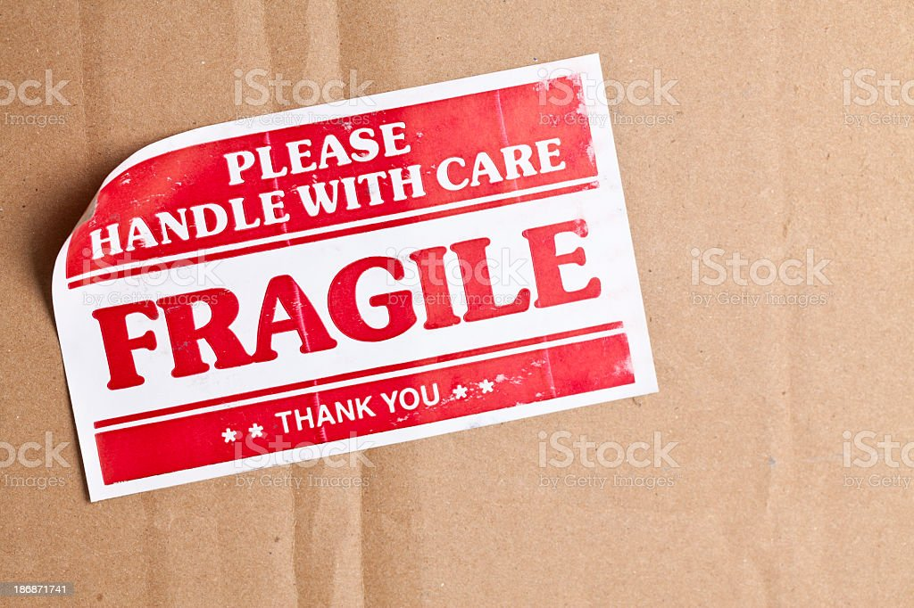 Fragile Label stock photo