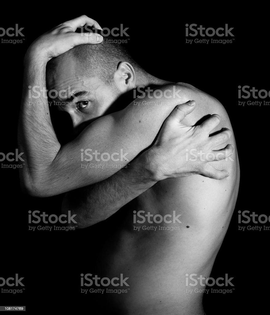 Fragile man stock photo