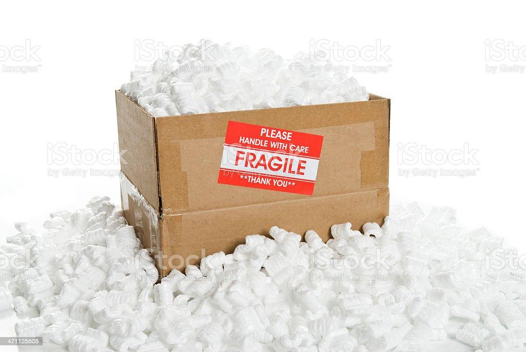Zerbrechlich Packen Box Lizenzfreies stock-foto