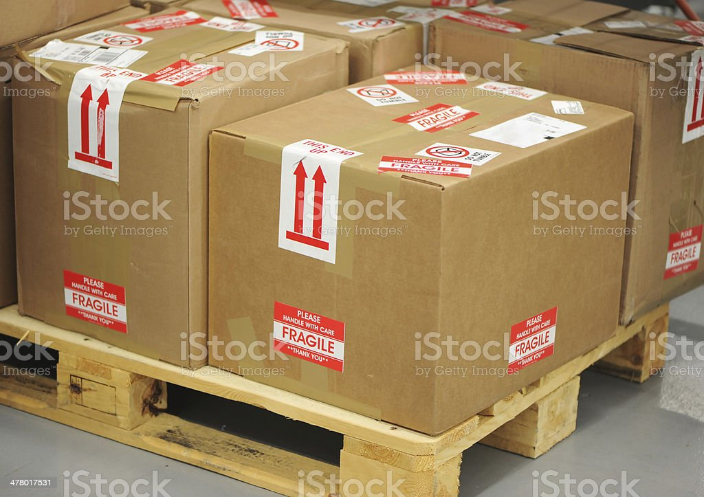 Fragile Shipping royalty-free stock photo