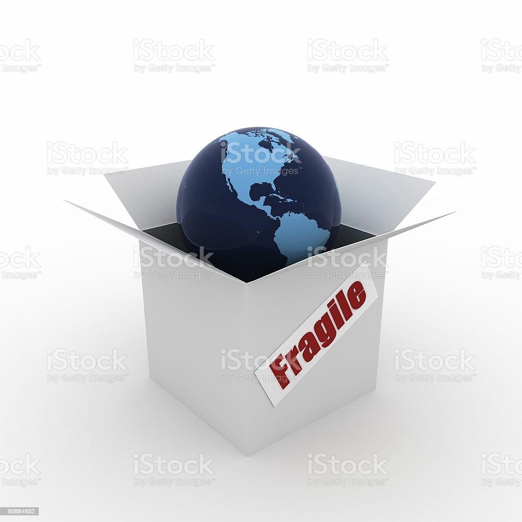 Fragile World royalty-free stock photo
