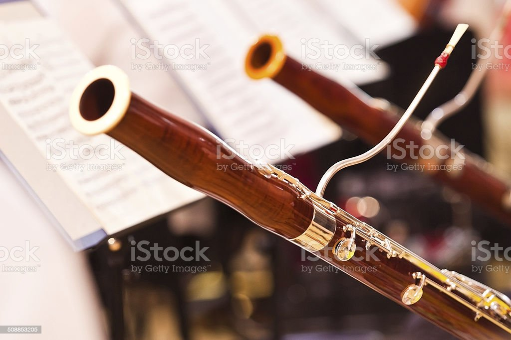 Fragment bassoons stock photo